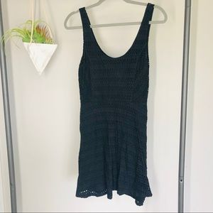 Eight Sixty Eyelet Black Sleeveless Dress
